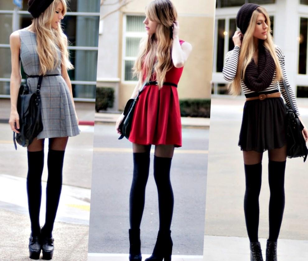 Высокие носки с чем носить