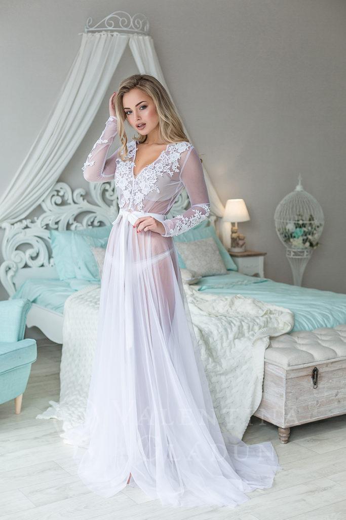 Будуарные платья для утра невесты